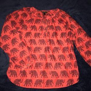 J. Crew Size 12 Elephant Blouse